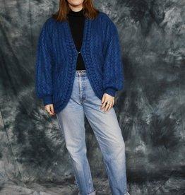 Blue 80s cardigan
