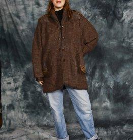 Brown 80s vest
