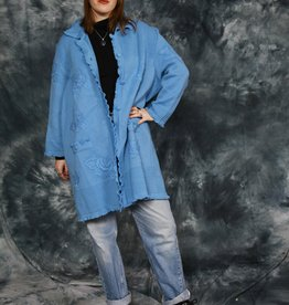Blue 80s long cardigan