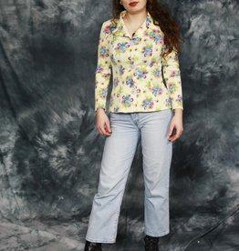 Floral 70s blouse