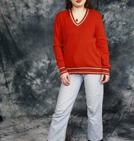 Red 70s stretch jumper