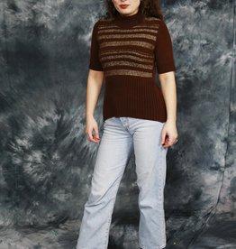 Brown 70s stretch jumper