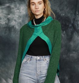 Green 70s jumper