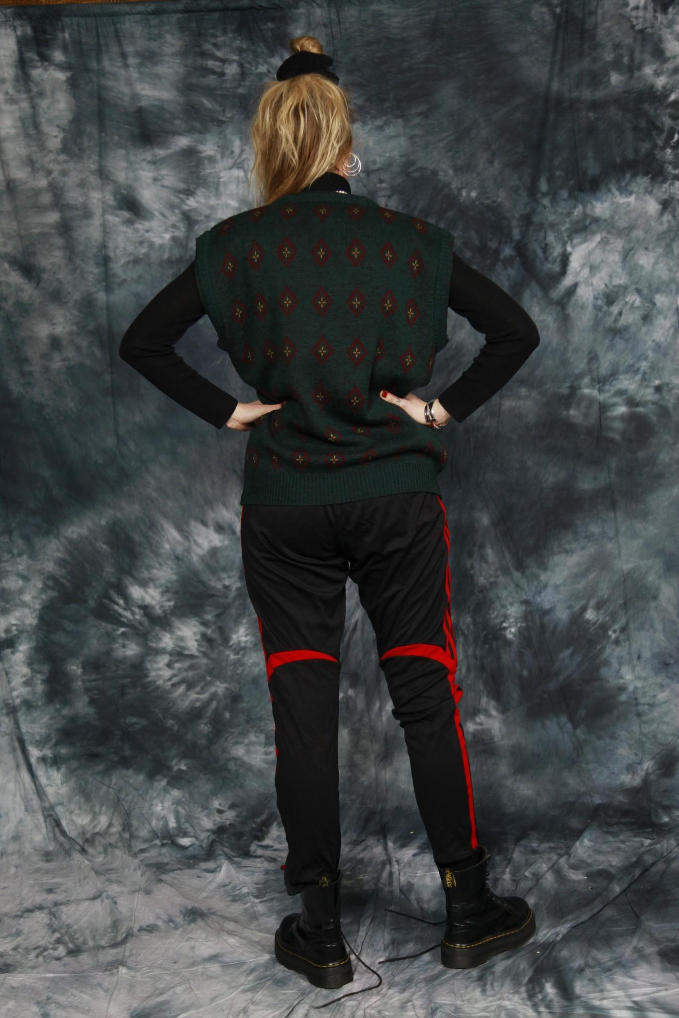 Black Adidas track pants