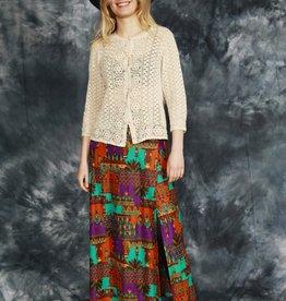 Printed 70s maxi skirt