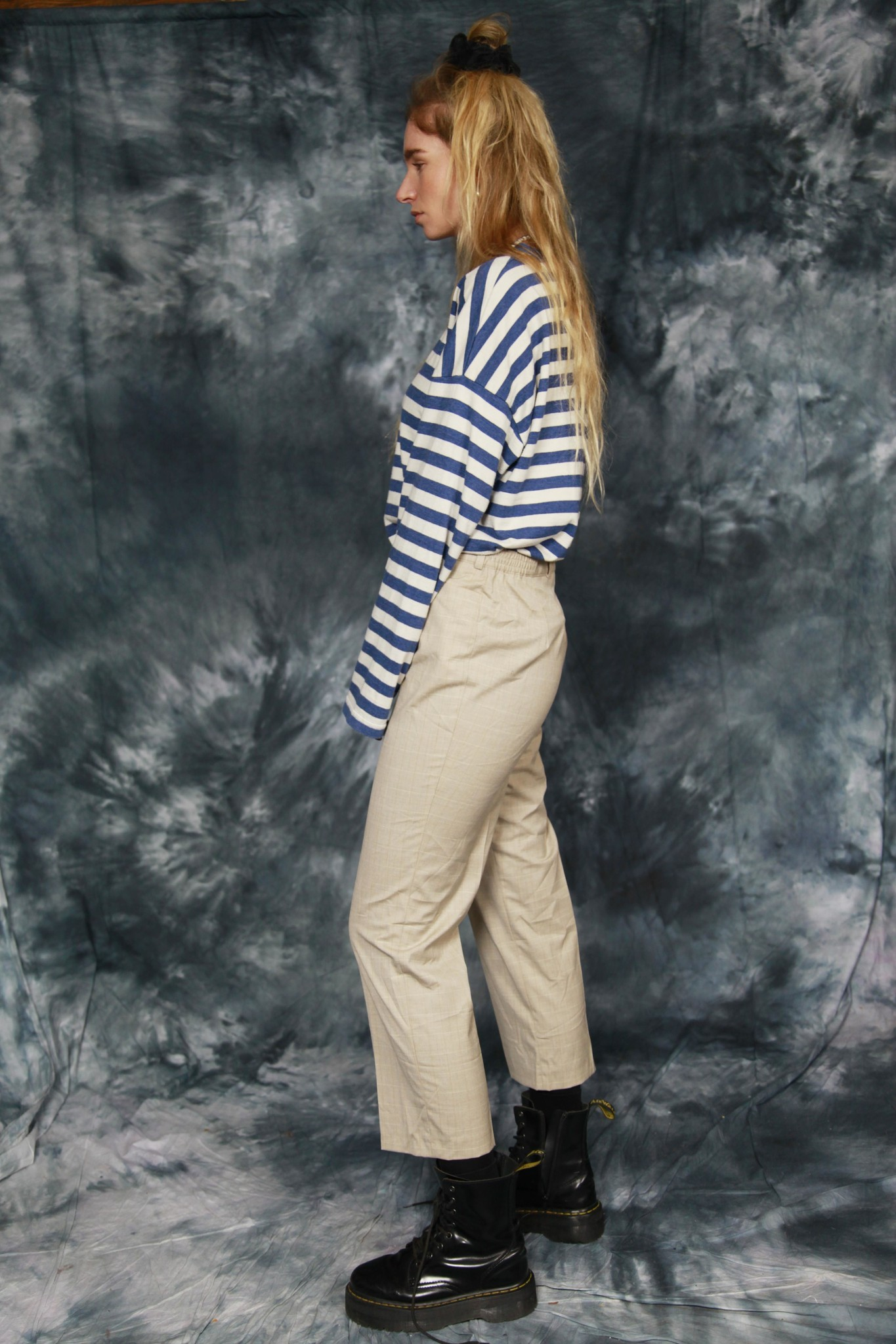 Printed 80s trousers