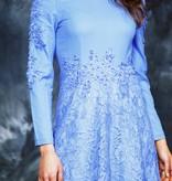Blue 70s maxi dress