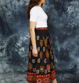 Cotton embroidered 70s skirt