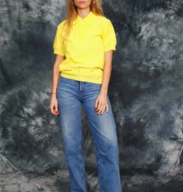 Yellow 70s stretch top