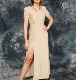 Beige 90s maxi dress