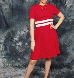 Red 70s mini dress