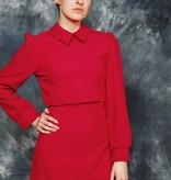 Fuchsia 70s maxi dress