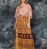 Brown 70s wrap skirt