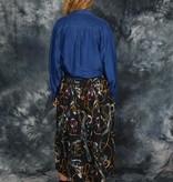 Blue 90s silk shirt