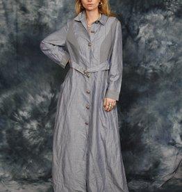 Blue 80s dress / jacket
