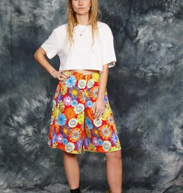 Floral 80s shorts