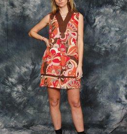 Printed 90s mini dress