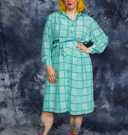 Green 80s dress