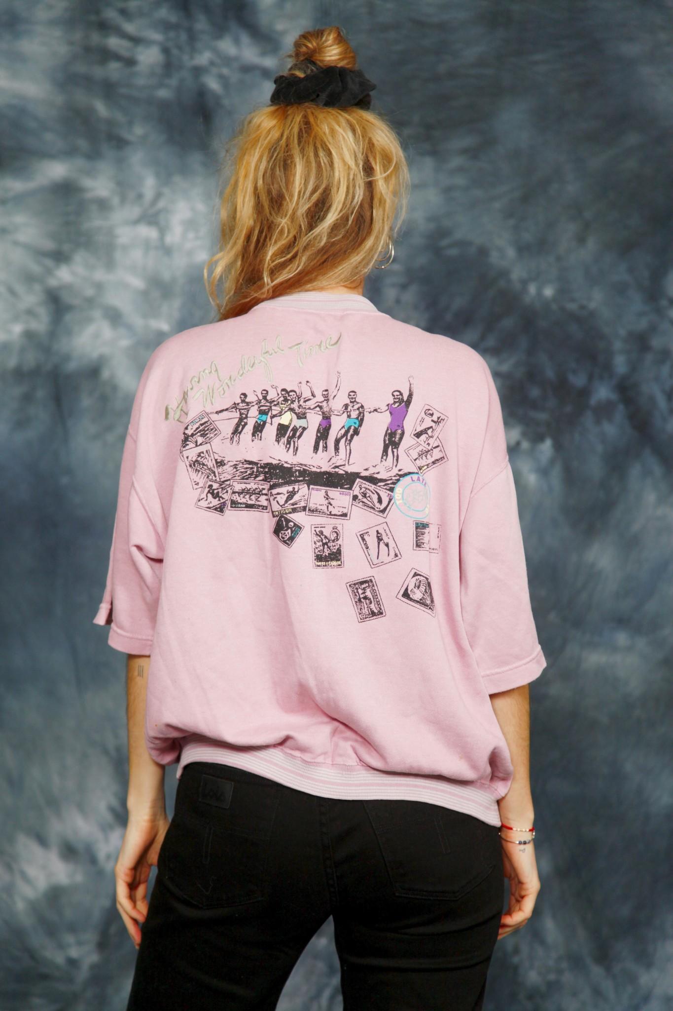 Pink 80s jumper