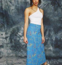 Blue 90s pencil skirt