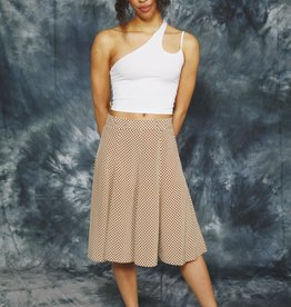 Classy polka dot skirt
