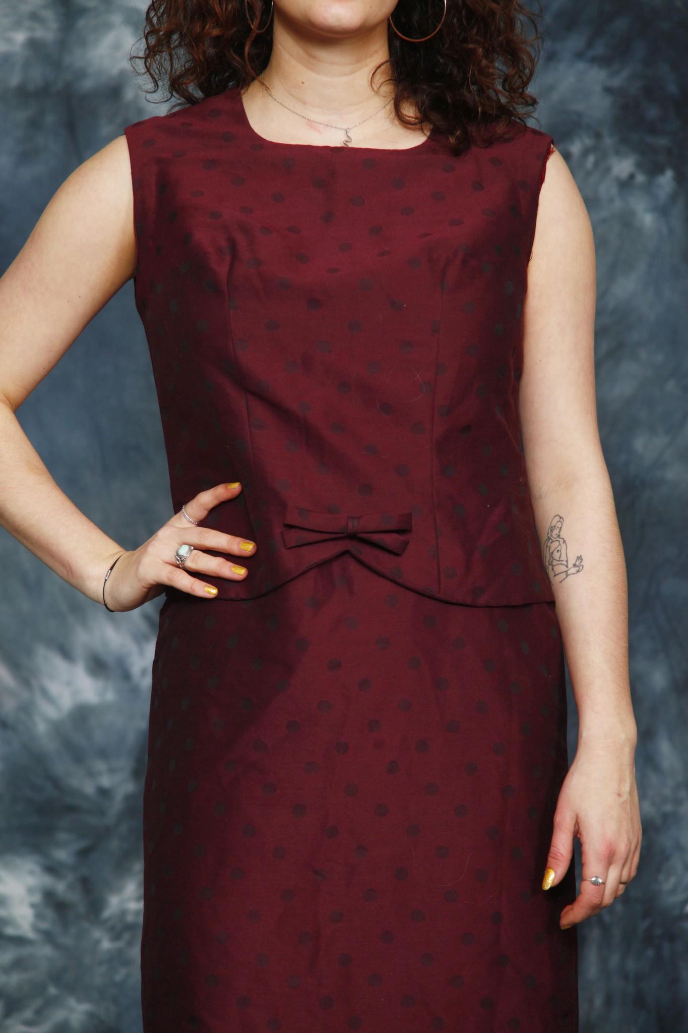 Red 60s dress