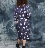 Floral 80s dress