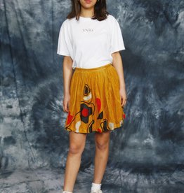 Suede 70s skirt