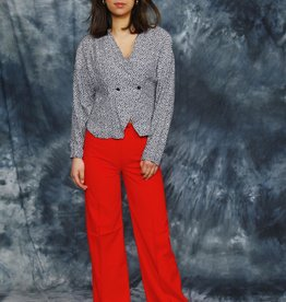 Flared trousers in red