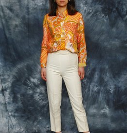 White 80s trousers