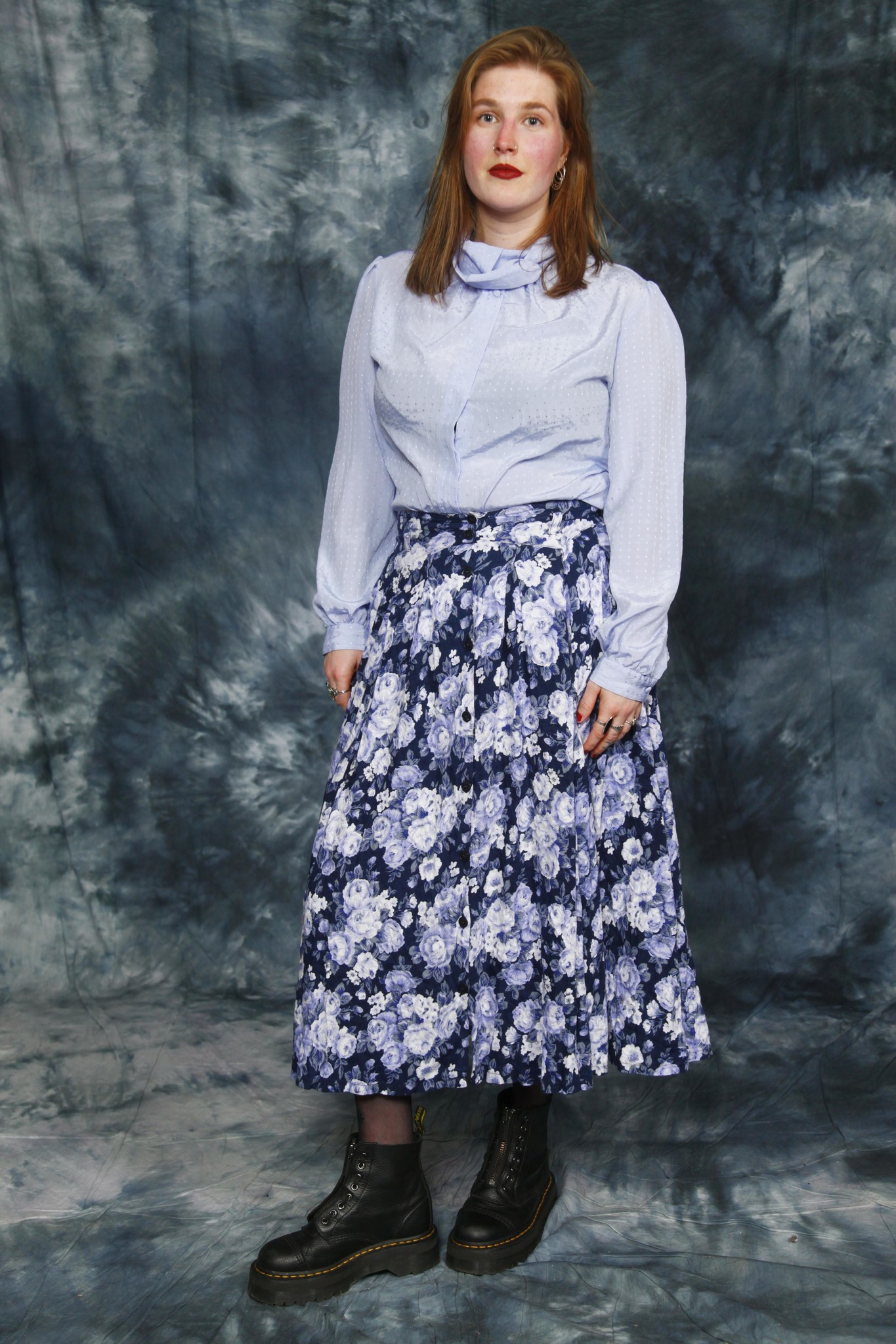Beautiful Floral 90s Skirt