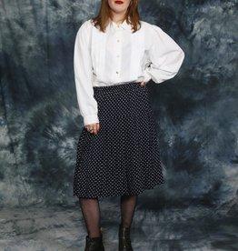 Classy 80s Polkadot Skirt