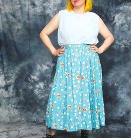 Polka dot 80s skirt in blue