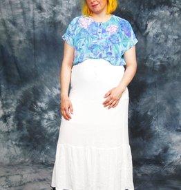 White 90s maxi skirt