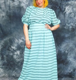 Striped 80s maxi dress