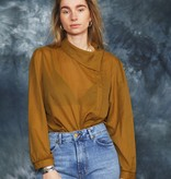 Brown 80s blouse