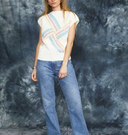Printed 80s stretch top