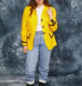 Classic 80s jacket in yellow