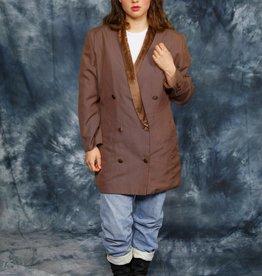 Brown 80s jacket