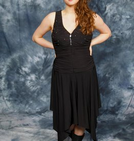 Black 80s dress