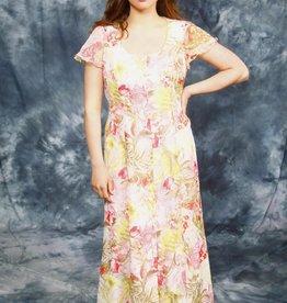 Floral 80s maxi dress