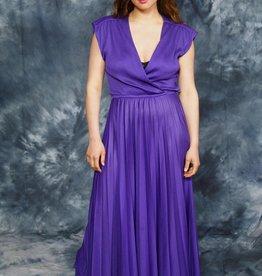 Purple 80s maxi dress