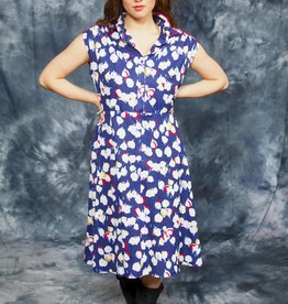 Printed 80s midi dress