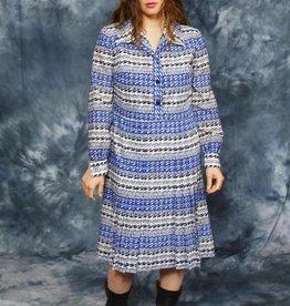 Blue 70s midi dress