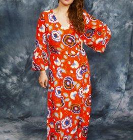 Floral 90s maxi dress