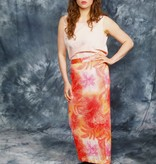 Floral 80s maxi skirt