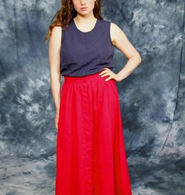 Button front 80s skirt