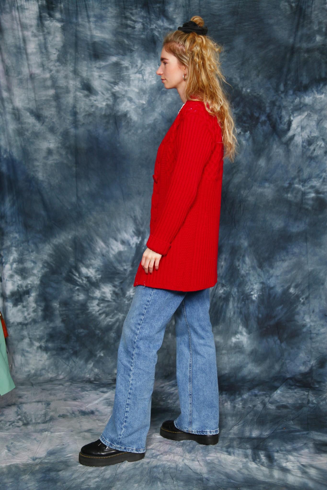 Heavyweight 70s cardigan