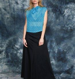 Black 70s maxi skirt