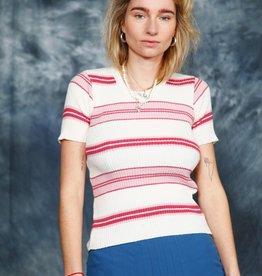 Striped 70s stretch top